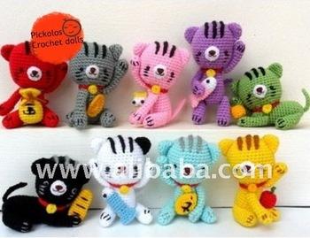 Crochet Baby Mobile Meow Meow Kitten, Cat baby mobile,Cat crochet ... | 269x350
