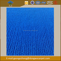 Polyester Striped non woven Carpet Colorful surface Plain Exhibition Carpet best carpet brands