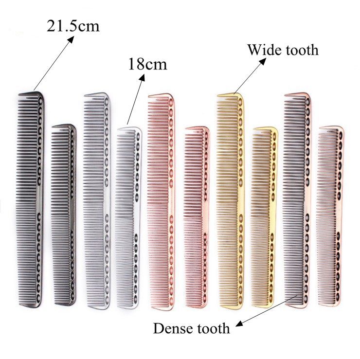 Salon Colorful Space Aluminum Anti-static Hair Comb