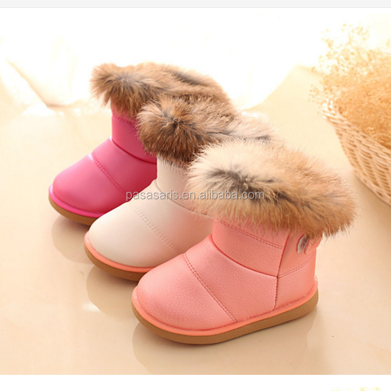 AL5001SC New arrival fashion child girls snow boots shoes warm baby toddler kids soft bottom winter boot