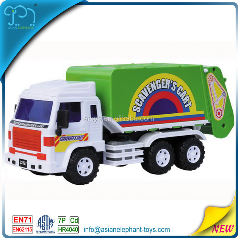 Inertia Car Friction Car Toys For 2017 Large Garbage Truck Toy With Friction Motor