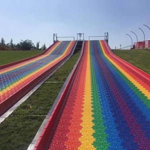 2018 new rainbow snow dry slide plastic/dry ski