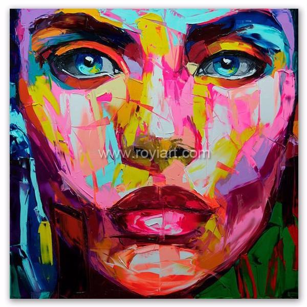Couteau Photo Pop Art Femme Visage Portrait Peinture A L Huile Moderne Mur Art Decoration De La Maison Buy Peinture D Art Moderne De Pop Art Moderne De Mur Peinture A L Huile De Portrait De