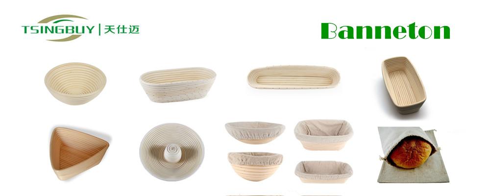 Manifattura nuovo prodotto 100% fatti a mano pane banneton brotform cestino