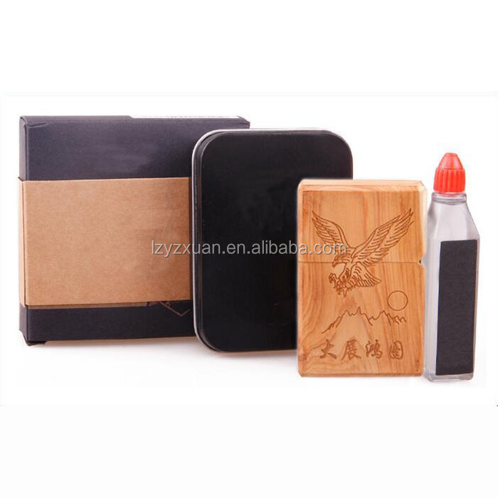 Antique hand carving lighter with beautiful case for wholesale