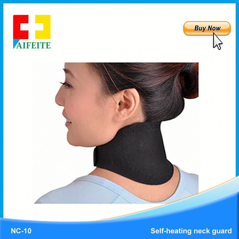 High Quality Health Care Pain Relief Self Heating Magnetic Traction Neck Brace,Far Infrared Neck Support Belt