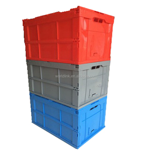 Large Solid Storage Moving Foldable Plastic Box