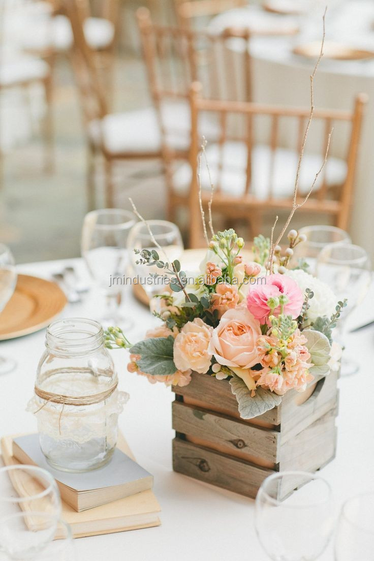 Wholesale wedding decoration table centerpiece wooden box for Buy wedding centerpieces