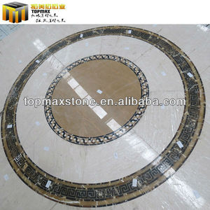 Colorful Natural Waterjet Beige marble flooring project