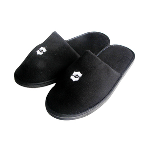 Wholesale washable hotel guest slippers black men bathroom slipper