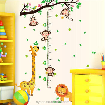 jungle forest animals zoo monkey tree wall sticker for kids baby