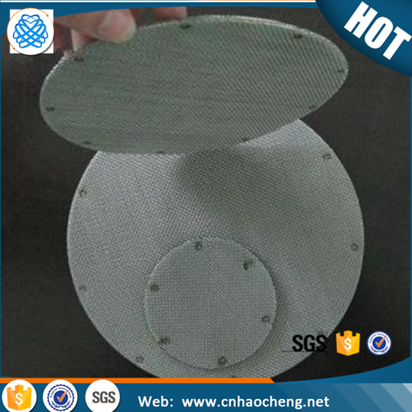 58 mm diameter 300 mesh stainless steel 304 multilayer bound edge mesh filter disc