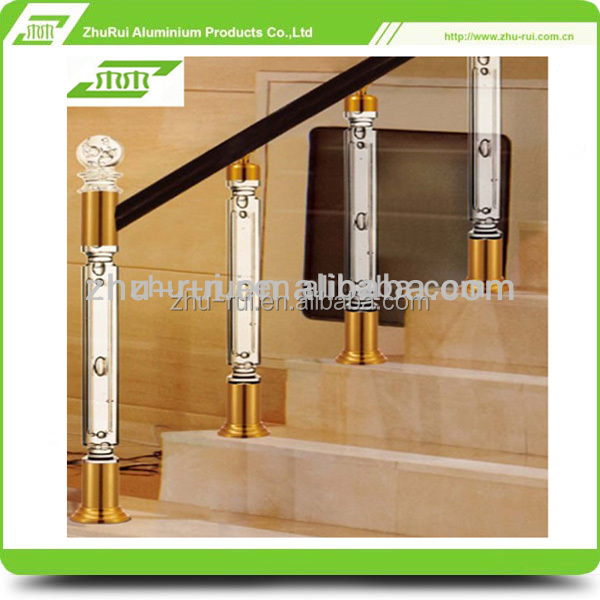 High Grade Crystal Acrylic Stair Railing /clear stair balustrades/crystal handrail China supplier