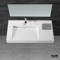 mold made basin sinks bathroom solid surface wash basin