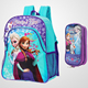 2015 New Design Frozen kids School Bag + Pencil case set