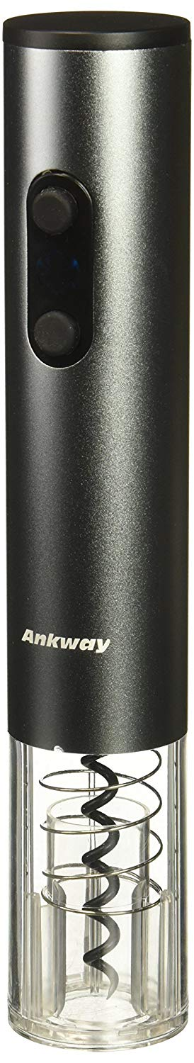 Ankway Electric Wine Opener Battery Operated with Foil Cutter Cordless Stainless Steel Automatic Wine Bottle Opener Kit Night Vision Electric Corkscrew Wine Opener, Silver (Certified Refurbished)