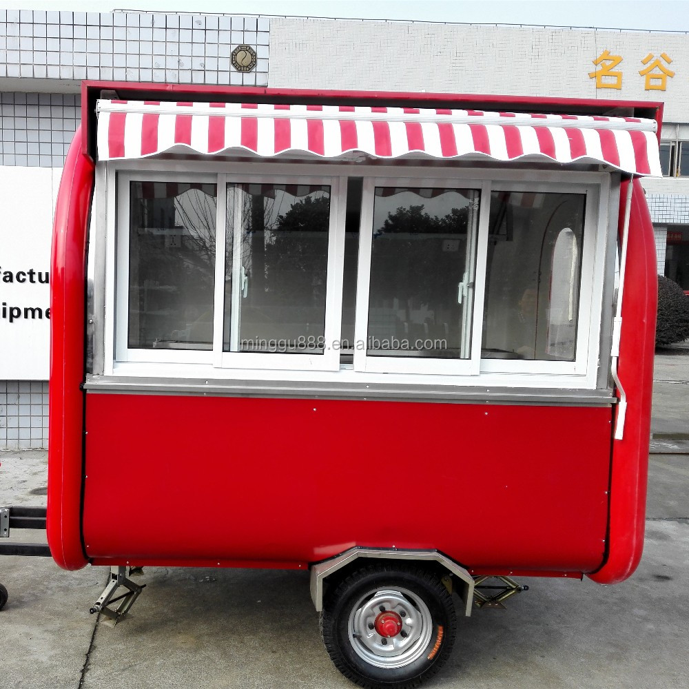 Arc-shaped Roof Mobile Food Trailer For Sale - Buy Mobile Food Carts  Catering Trailer Burger Van,New Condition And Biscuit Application Selling  Food