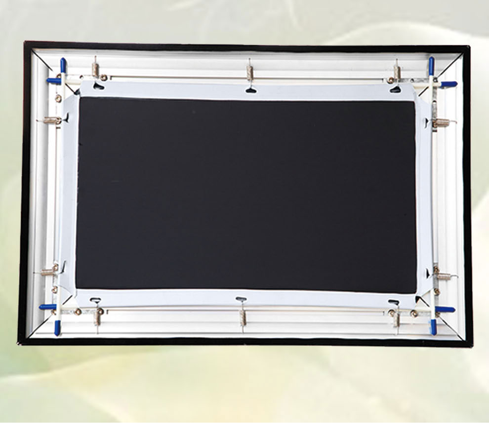 "150"" 3D silver fixed frame projector screen"