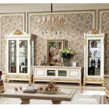 Yb62 Francese Nuovo Barocco Classico Soggiorno Vetrina/vetrina Castello In  Stile Antico Europeo Di Legno Intagliato A Mano - Buy Legno Antico ...