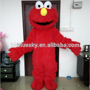 red long plush elmo mascot costume elmo walking mascot costume