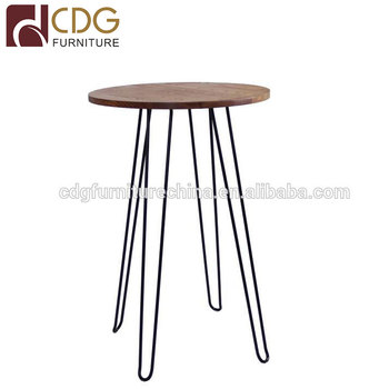 Design Industrial Loft Metal Wooden Hairpin Leg Nightclub Kitchen