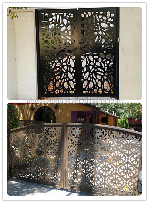 Elegant Security Modern Laser Cut Metal Gates Residential