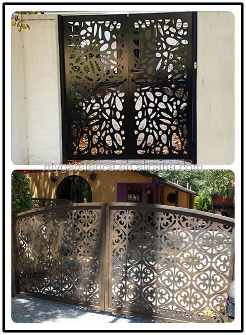 Home Design Gate Ideas: Elegant Security Modern Laser Cut Metal Gates,Residential
