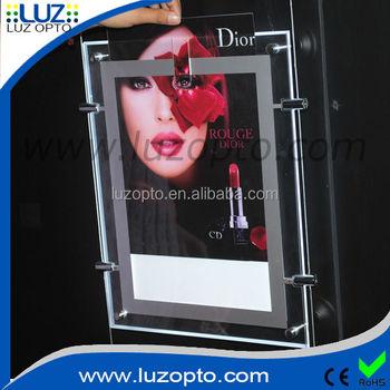 A0,A1,A2,A3,A4 Acrylic Box Frame,Led Pocket Light Display,Estate ...