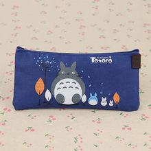 Милый кавайный тканевый пенал Чехол милый мультипликационный Тоторо Ручка сумки для детей подарок школьные принадлежности(Китай)