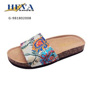 c85961ce227f Comfy Womens Single Strap Slippers Soft Cork Sole Comfort Classic Flat  Slide Sandals