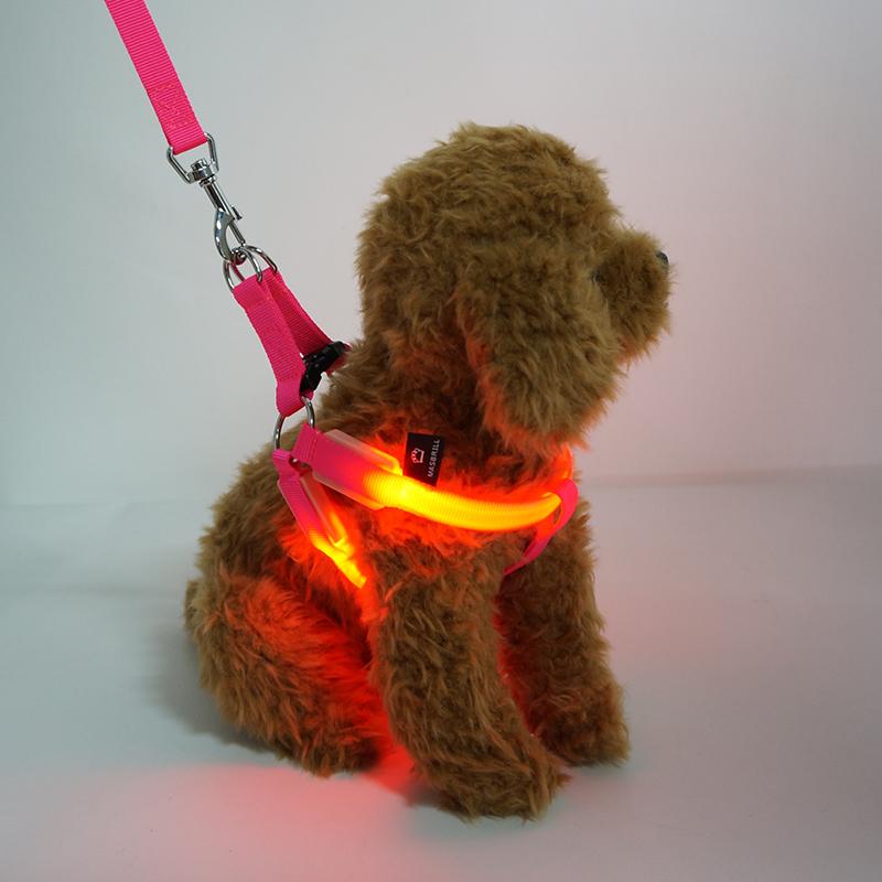 High Quality Comfortable Dog Training Harness Night Super Bright  Led Flashing Dog Harness