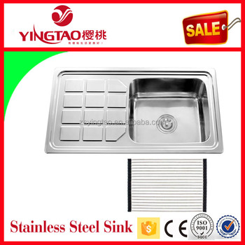 Co Untuk Stainless Steel Sink Bowl Ukuran Portabel Dapur Piring Wastafel Drainer