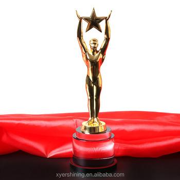 custom hd242 style oscar statuette high quality metal trophy for