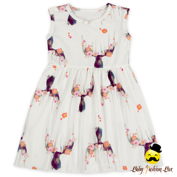 b07a3f37ec62f Frock Design Kids Summer Daily Wear Dear Patterns Printed Sleeveless Fairy  Style Baby Girl Summer Dress