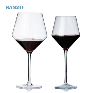 Customized handmade spill proof crystal mini stem wine glass for bar