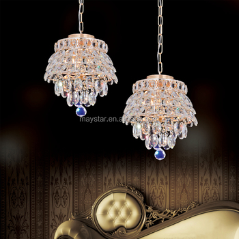 Br Crystal Chandelier Pendant Ceiling Light Gold Color E14 Base Luxurious Lighting Round