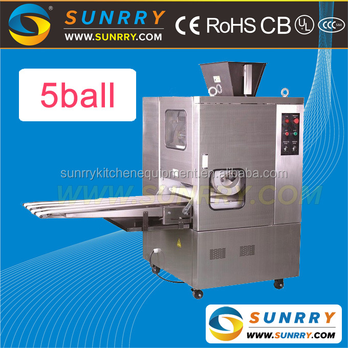 Stainless steel full automatical non-oil dividing continuous dough divider and rounder with 10000pcs/h output for sale