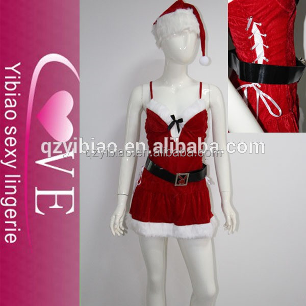 2015 best seller mulheres mini vestido traje do natal camisola lingerie sexy