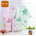 Newest 2015 spring summer unisex baby rompers costume long sleeve baby boy girl overall 100 cotton