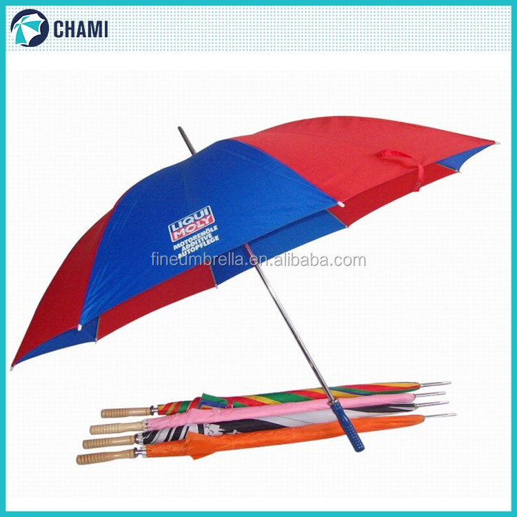 Portable best quality new model golf umbrella logo printed