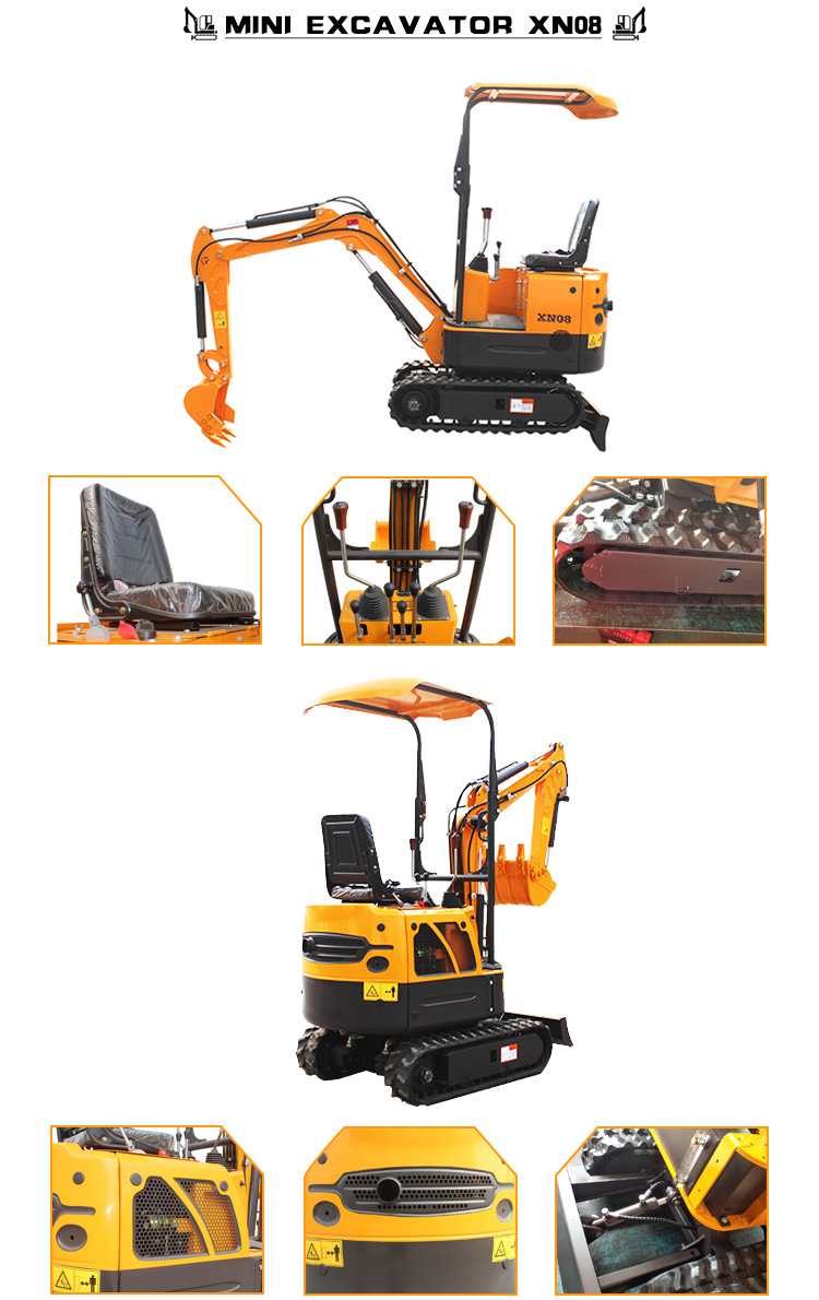 Small Digger 0.8 1 ton Mini Excavator Digging For Sale