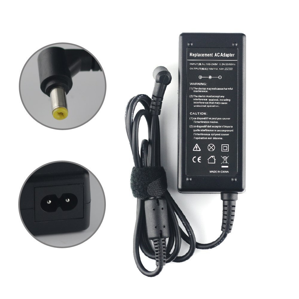 65W 19V 3.42A AC DC Laptop Charger Power Adapter for Acer Charger