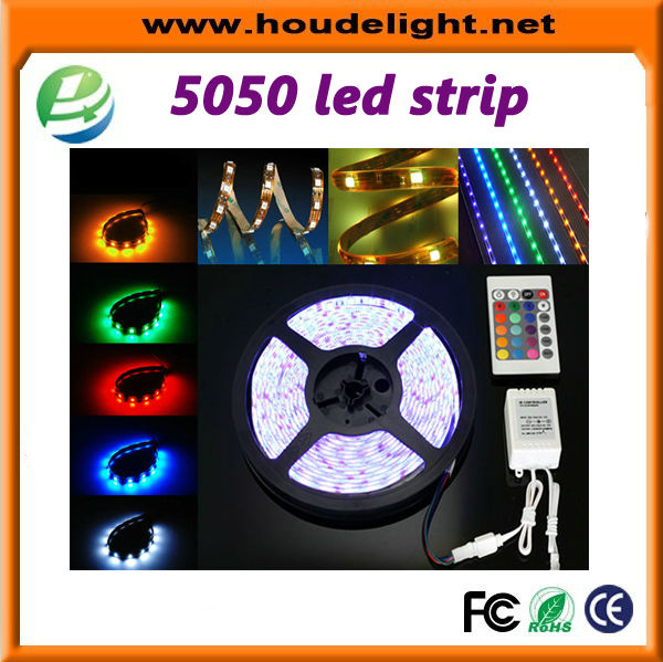 super bright 12 volt leds IP65 5m 300SMD <strong>RGB</strong> 5050 led strip light