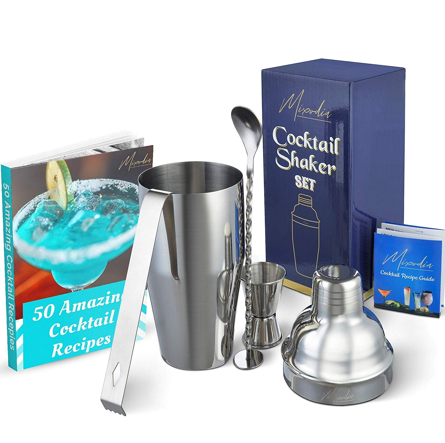 EudoUS 2 Pack Set Stainless Steel Cocktail Muddler and Mixing Spoon