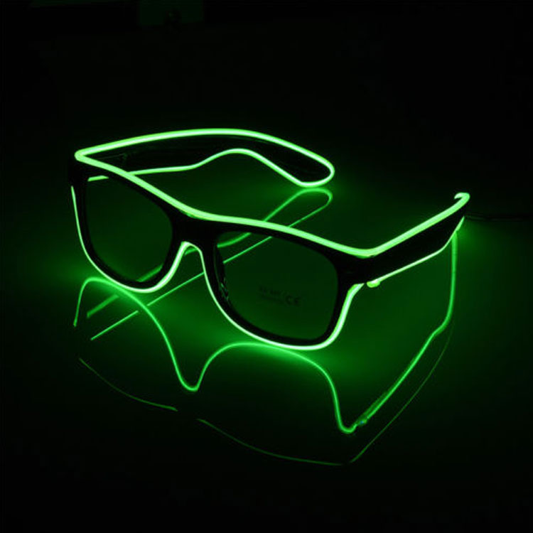Men's Glasses The Cheapest Price Wholesale El Wire Flashing Light Up Shutter Glasses Shades Eyewear Party Concert Favor Jade White Apparel Accessories