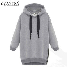 Winter Autumn 2016 Fashion Women Long Sleeve Hooded Jacket Loose Warm Sport Hoodies Solid Sweatshirt Plus Size 3 Colors