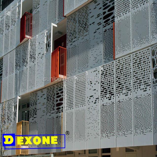 Exterior Perforated Aluminum Facade Panel