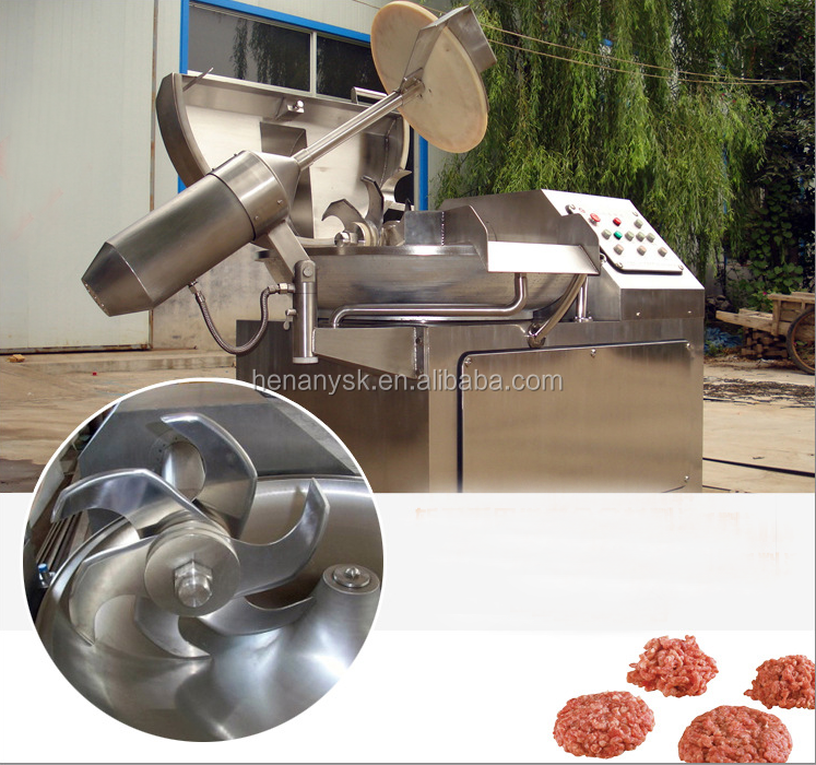 90L Stainless Steel High Efficient Speed Double Axle Vegetable Meat Mincer Bowl Cutter