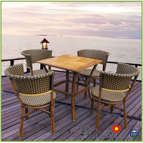 Garden Outdoor Dining Set Bamboo Furniture Cheap Restaurant Chairs For Sale