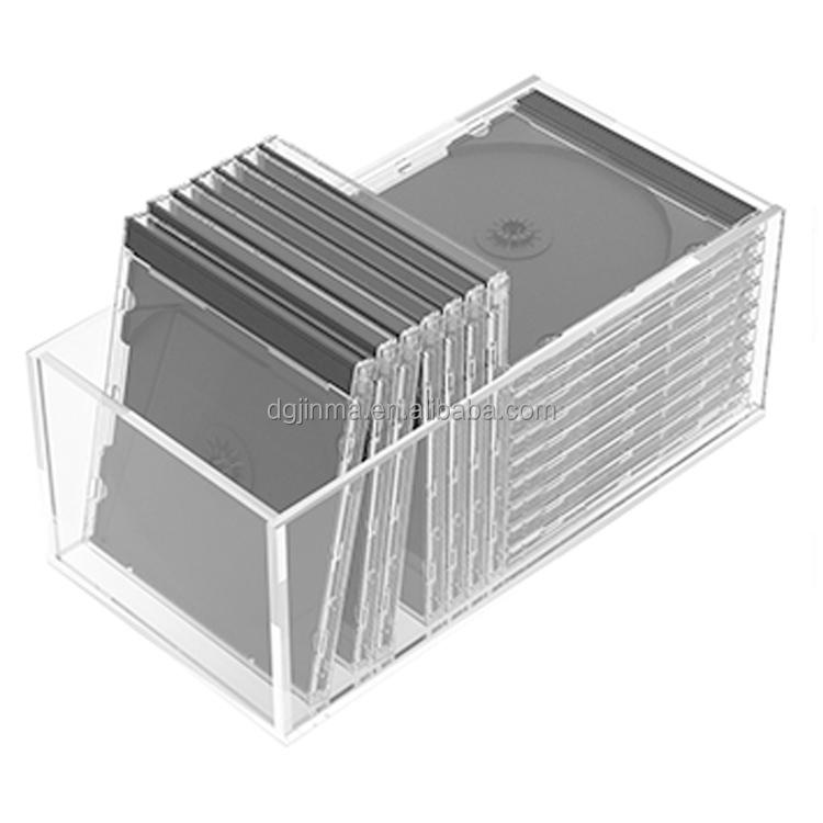 Offer Clear Acrylic Dvd Storage Box,Cd Drawer Box Holder ...